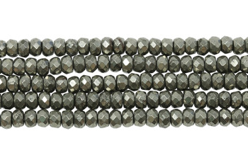 Pyrite Polished 3x5mm Faceted Rondel