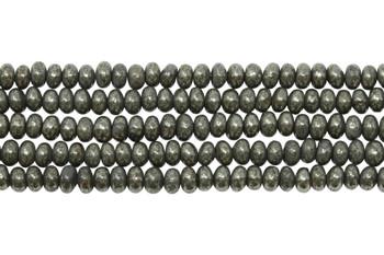 Pyrite Polished 2x4mm Rondel