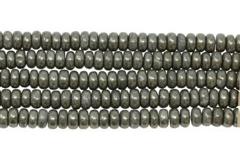 Pyrite Polished 3x6mm Rondel