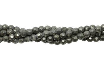 Pyrite Polished 4mm Faceted Round