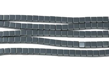 Hematite Polished 4mm Cube