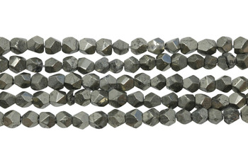 Pyrite Polished 4mm Faceted Nugget