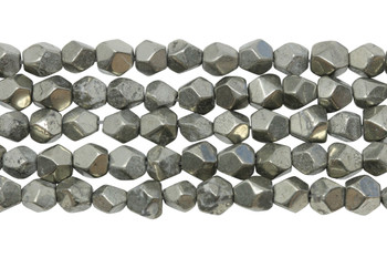 Pyrite Polished 6mm Faceted Nugget