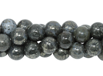 Pyrite in Crystal Polished 10mm Round