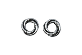 Twisted 10mm Spacer Bead - Silver Plated