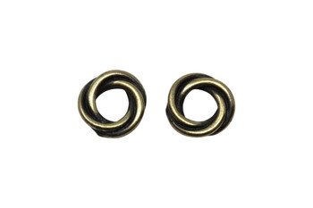 Twisted 10mm Spacer Bead - Brass Plated