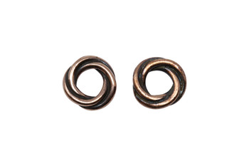 Twisted 10mm Spacer Bead - Copper Plated