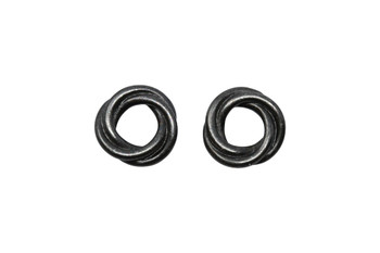Twisted 10mm Spacer Bead - Black Plated