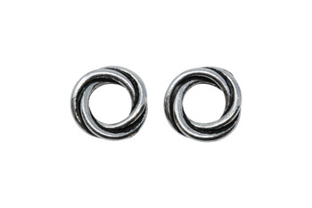 Twisted 12mm Spacer Bead - Silver Plated