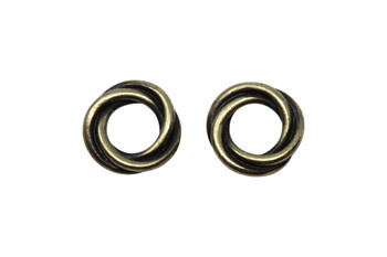 Twisted 12mm Spacer Bead - Brass Plated