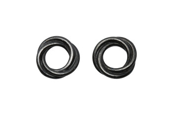 Twisted 12mm Spacer Bead - Black Plated