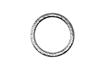 Hammertone 1.25-inch Ring - Rhodium Plated