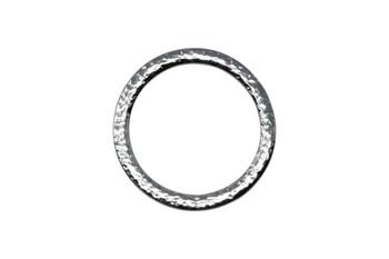 Hammertone 1.25-inch Ring - Rhodium Plated