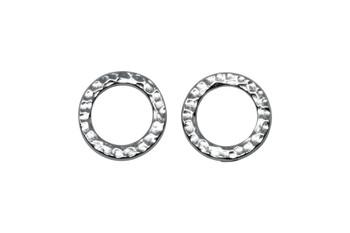 Medium Hammertone Ring - Rhodium Plated