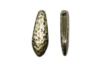 Hammertone Dagger Bead - Brass Plated