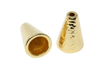Hammertone 16mm Cone - Gold Plated