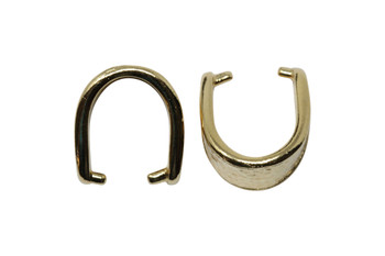 Hammertone 15mm Pinch Bail - Gold Plated