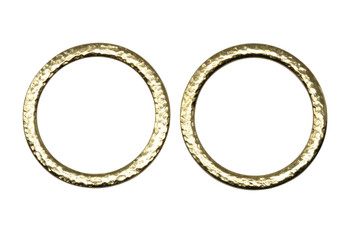 Hammertone 1.25-inch Ring - Gold Plated
