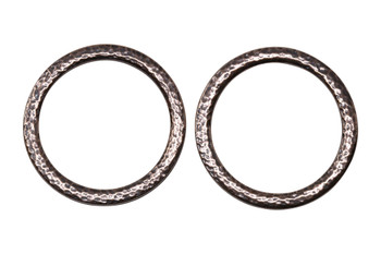 Hammertone 1.25-inch Ring - Copper Plated
