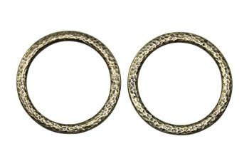 Hammertone 1.25-inch Ring - Brass Plated