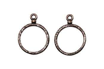 Stitch-around 18mm Hoop Charm - Copper Plated