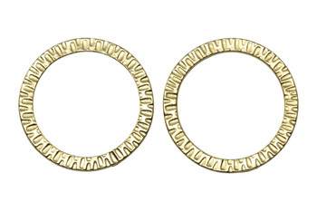 1.25-inch Radiant Ring - Gold Plated