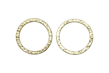 Hammertone 1-inch Ring - Gold Plated
