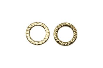 Medium Hammertone Ring - Gold Plated