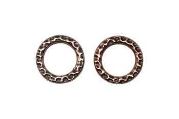 Medium Hammertone Ring - Copper Plated