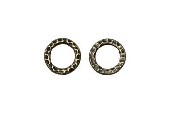 Medium Hammertone Ring - Brass Plated