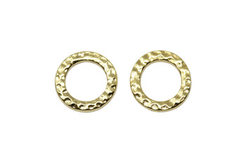 Small Hammertone Ring - Gold Plated