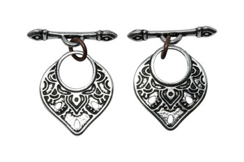 Temple Toggle Bar and Eye - Silver Plated