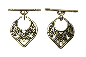 Temple Toggle Bar and Eye - Gold Plated
