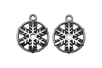 Snowflake Charm - Silver Plated