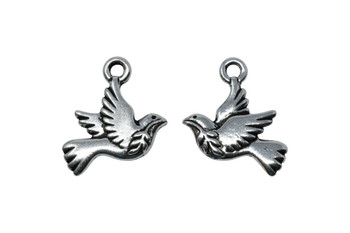 Peace Dove Charm - Silver Plated