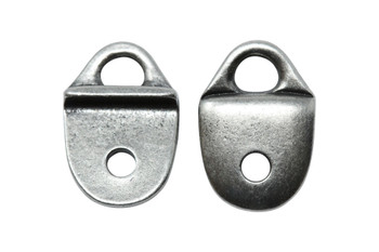 Plain Strap Tip - Antique Pewter