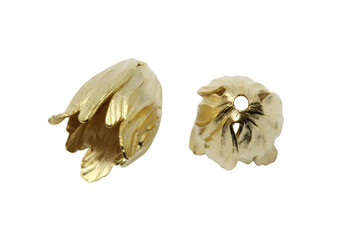Gold Plated 15x20mm Tulip End Cap