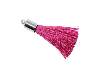 Hot Pink 27-30mm Tassel with Silver Cap