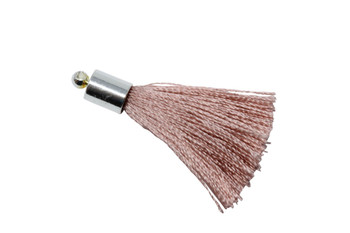 Rose 27-30mm Tassel with Silver Cap
