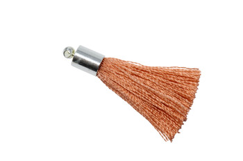 Coral 27-30mm Tassel with Silver Cap