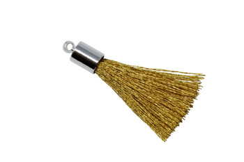 Gold 27-30mm Tassel with Silver Cap