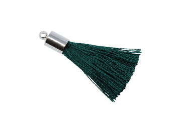 Emerald 27-30mm Tassel with Silver Cap