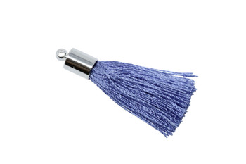 Periwinkle 27-30mm Tassel with Silver Cap