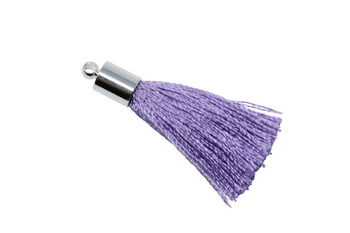 Lavender 27-30mm Tassel with Silver Cap