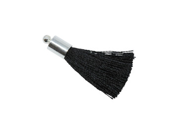 Black 27-30mm Tassel with Silver Cap
