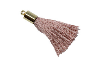 Copy of Rose 27-30mm Tassel with Silver Cap
