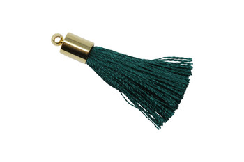 Emerald 27-30mm Tassel with Gold Cap
