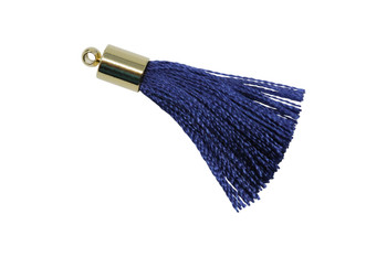 Navy 27-30mm Tassel with Gold Cap
