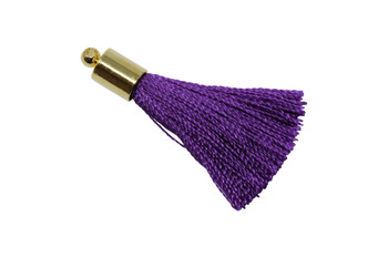 Copy of Purple 27-30mm Tassel with Gold Cap