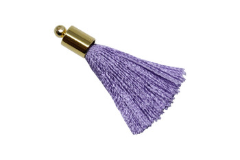 Lavender 27-30mm Tassel with Gold Cap